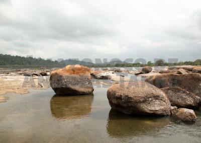 Flache Bereiche in der Volta Grande do Rio Xingu