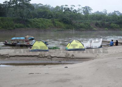 Camp am Río Tapiche, Peru