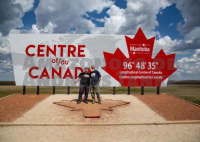 Andreas Tanke und Chris Biggs im Zentrum Kanadas